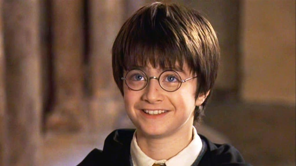 A young Daniel Radcliffe as Harry Potter