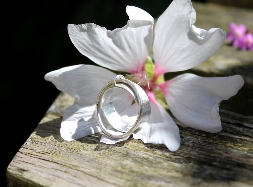 This one is a little different as a second ring is attached to the main ring for movement. (Cherrytreeliverpool)