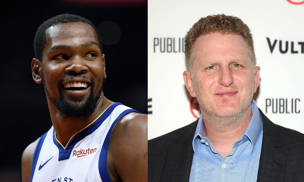 Headshots of Kevin Durant and Michael Rapaport