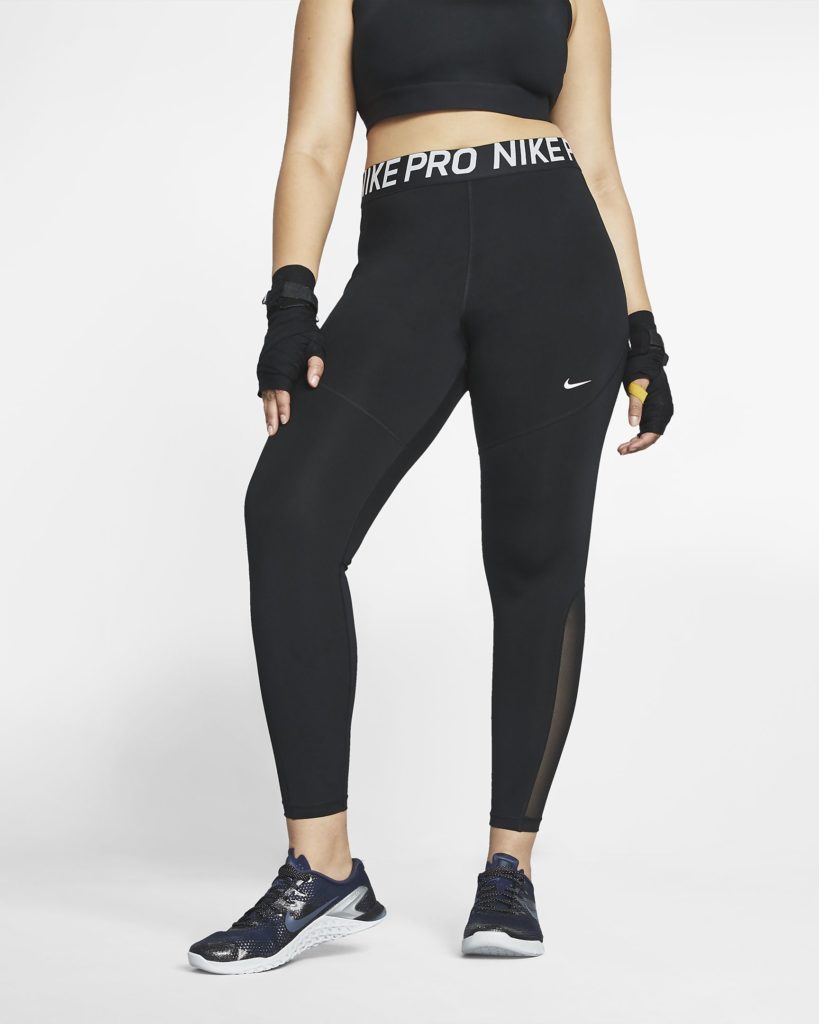 The women's Nike Pro tights come in standard or plus size. (Nike)