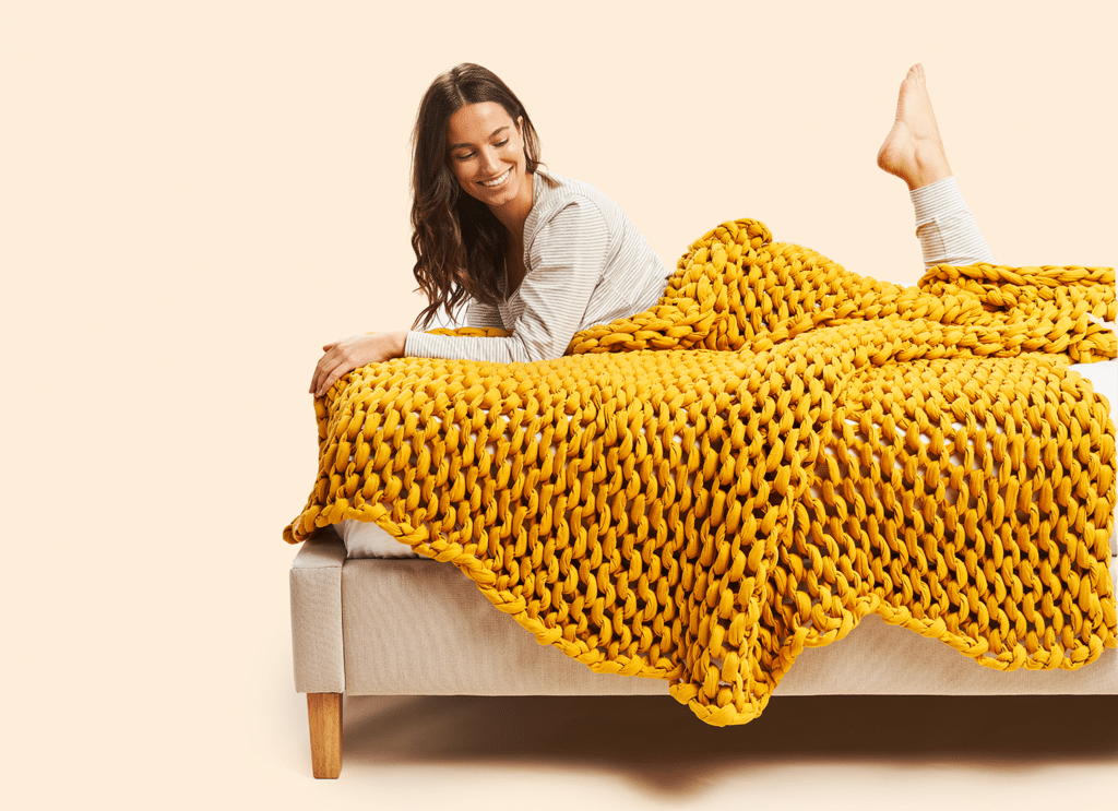 The weighted blanket is available in two sizes. (Remy Sleep)