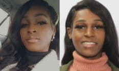 On the left: Diamond 'Kyree' Sanders poses in the back of a car wearing a white fur jacket. On the right: Diamond 'Kyree' Sanders smiles