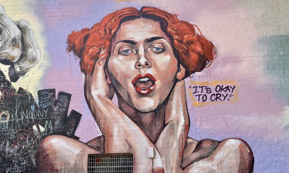 A mural of SOPHIE