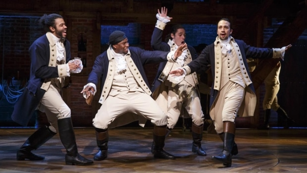 Hamilton the Musical follows the story of the Founding Fathers. (Joan Marcus)
