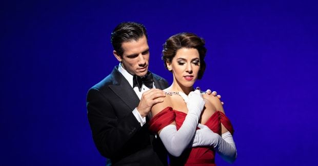 Danny Mac and Aimie Atkinson star as Edward and Vivian in the West End adaption of Pretty Woman. (Helen Maybanks)