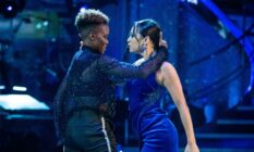 Nicola Adams and Katya Jones, the first-ever same-sex dance partners to perform on Strictly Come Dancing