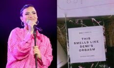 Demi Lovato and her personalised vagina candle from Gwyneth Paltrow