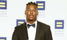 NFL player Ryan Russell HRC lgbt bisexual trans charity