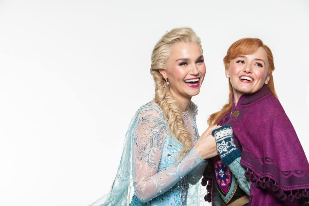 The musical adaption of Frozen features everyone's favourite charatcers including Elsa, Anna, Olaf and Sven. (Trevor Leighton ©Disney)