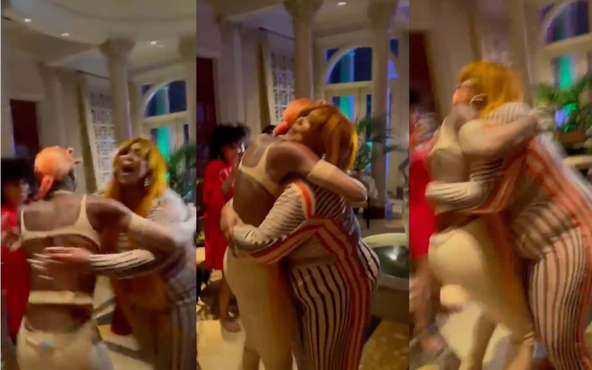 Lizzo and Symone hugging