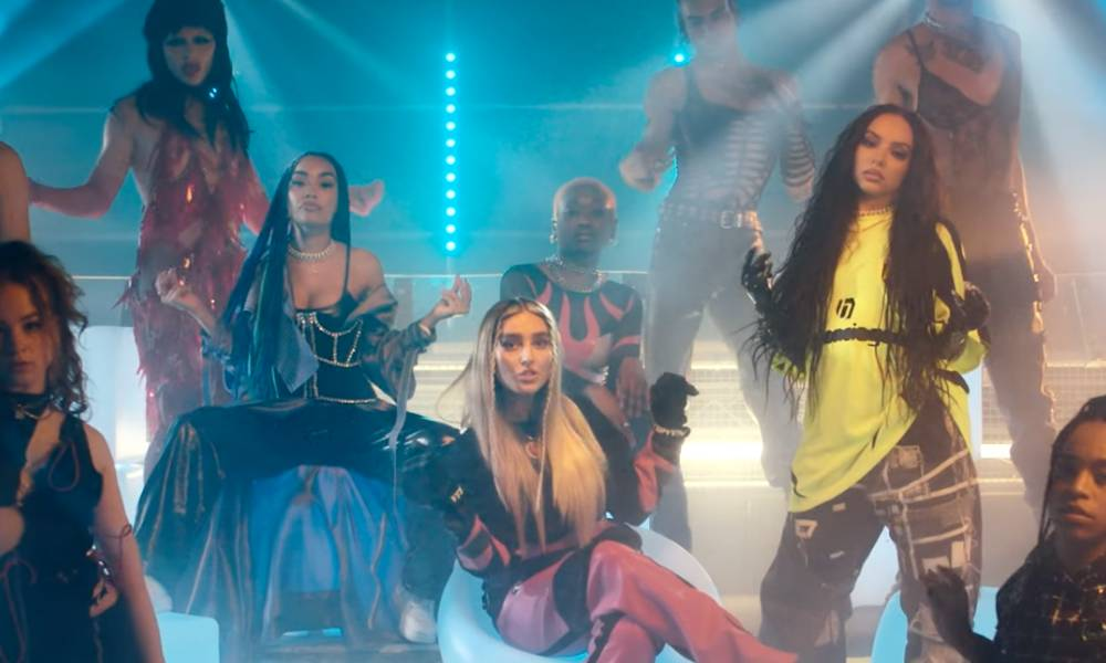 Little Mix transform into sickening drag kings with help from Tayce and Bimini