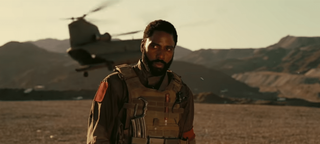 John David Washington stars in Tenet. (YouTube)