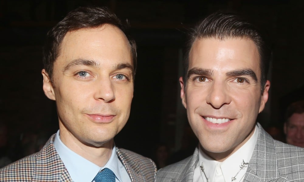 Jim Parsons and Zachary Quinto