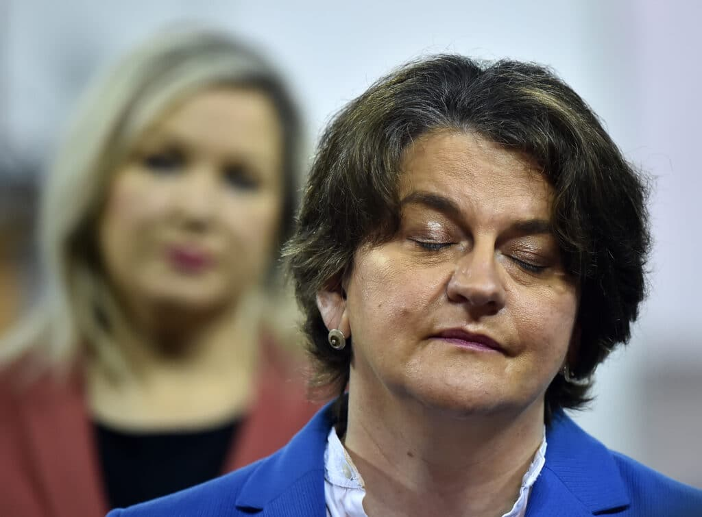 Northern Ireland First Minister Arlene Foster and Deputy First Minister Michelle O'Neill
