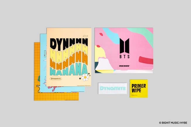 Some of the designs included in the BTS Inkbox set. (BigHit Music/HYBE)