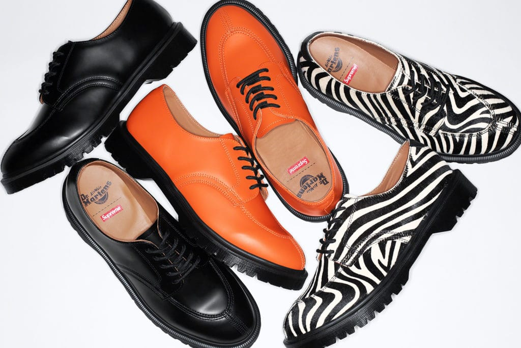 The shoes featured in the Dr Martens collaboration. (Supreme)