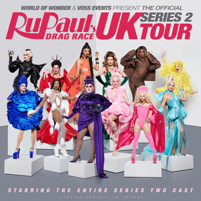 The official Drag Race UK tour will feature the cast of season two. (Twitter)