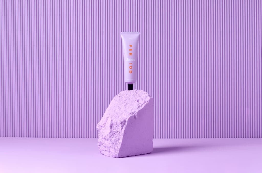 Period Faace is the world's first of its kind to help with period skin.