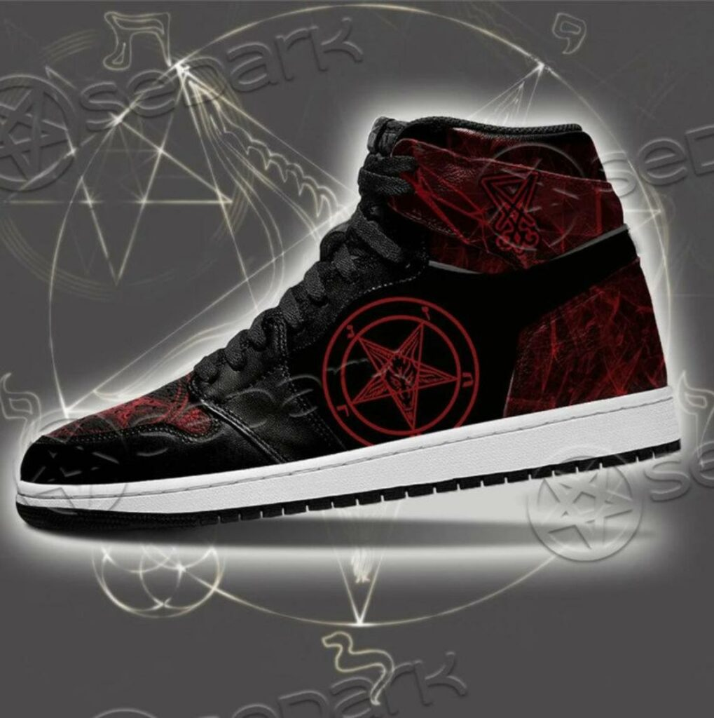 You can get a personalised pair of 'satan blood shoes'. (Etsy/sedark)