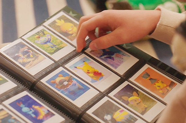 Gamers can collect and create a real Pokedex album with the Instax Mini Link printer. (Nintendo)