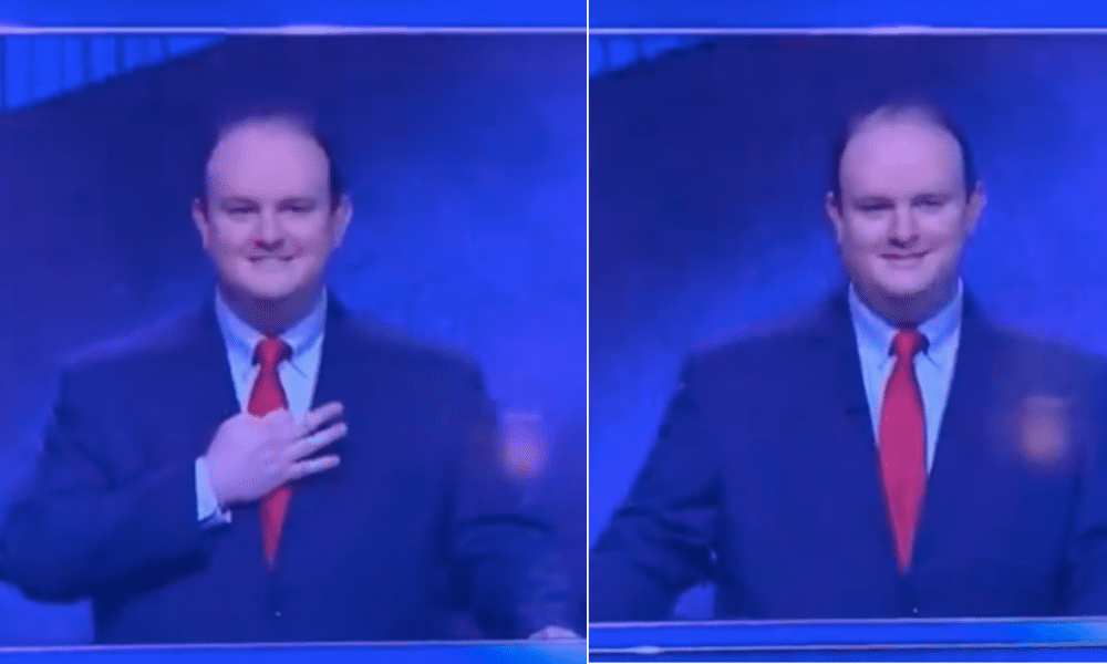 Jeopardy! racist white power gesture