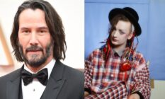 Keanu Reeves and Boy George