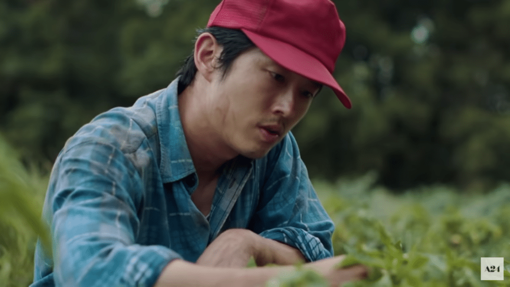 Steven Yeun received acclaim for his role in Minari. (YouTube)