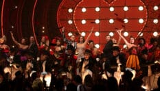 Cast of Moulin Rouge! The Musical on stage