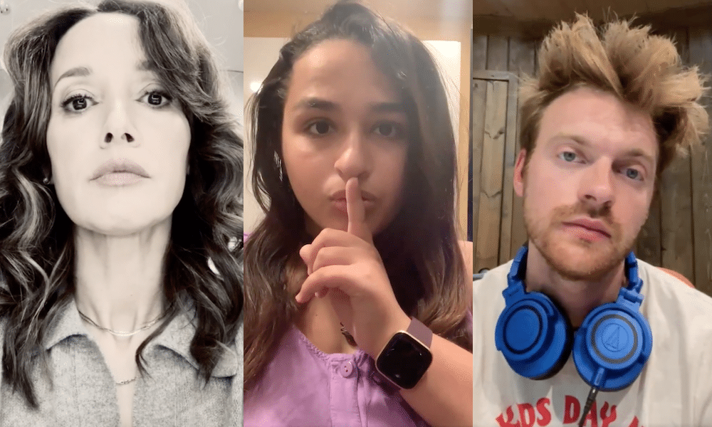 Jennifer Beals, Jazz Jennings and Finneas O'Connell take part in the GLSEN Day of Silence