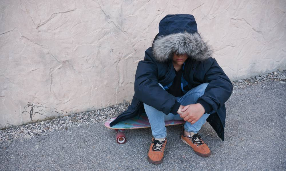 lonely person skateboard
