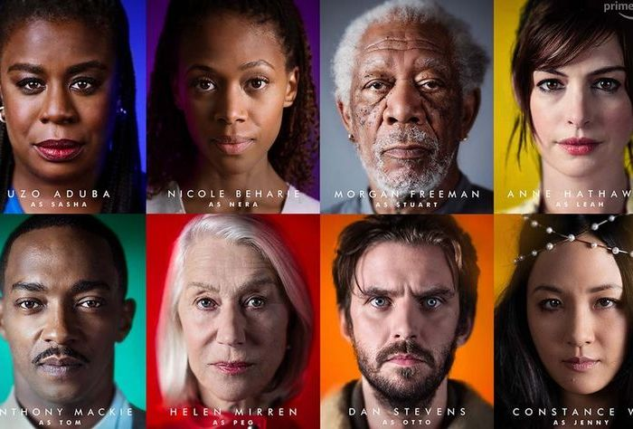 Solos features a star-studded cast including Helen Mirren, Anne Hathaway, Morgan Freeman and Uzo Aduba. (Amazon Prime Video)