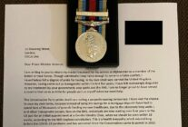 Trans veteran returns Afghanistan war medal to Boris Johnson in 'disgust'
