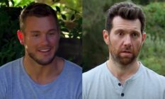 Headshots of Colton Underwood and Billy Eichner