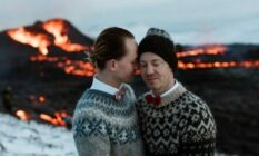 Gay volcano wedding