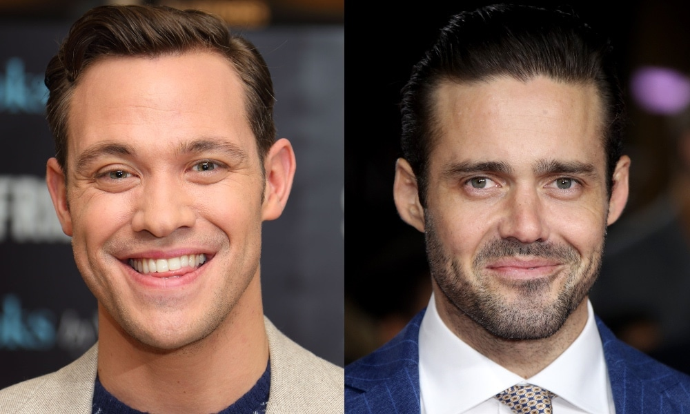 Headshots of Will Young and Spencer Matthews