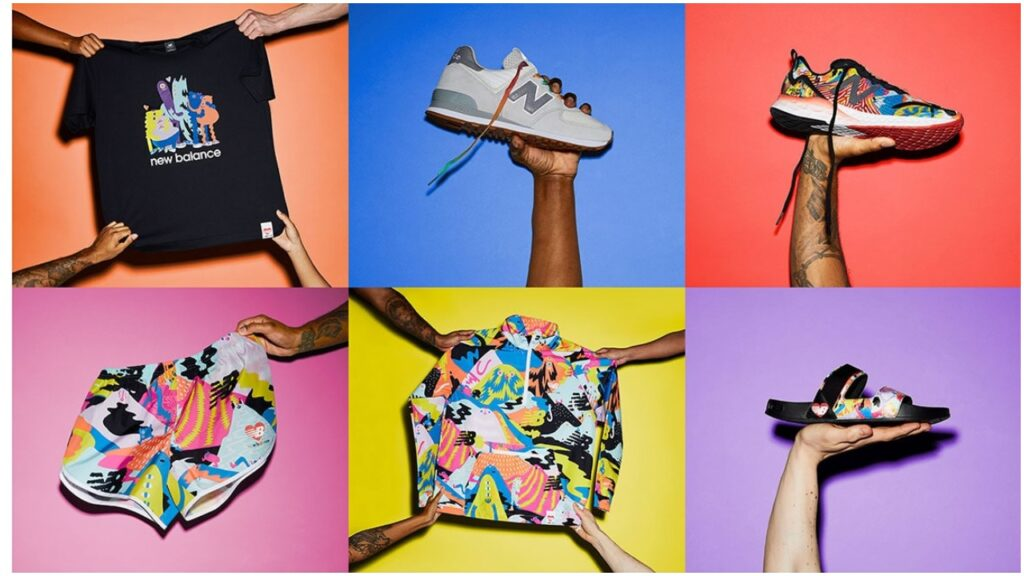 """New Balance has released the """"Everybody's Welcome"""" collection for Pride 2021. (New Balance)"""