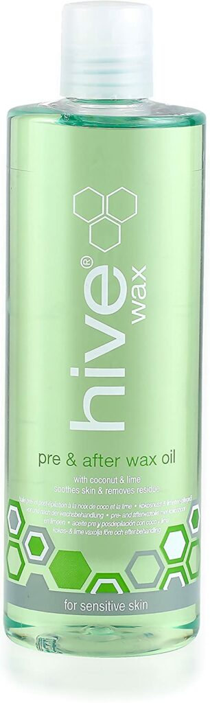 An oil to use before and after waxing. (Amazon)