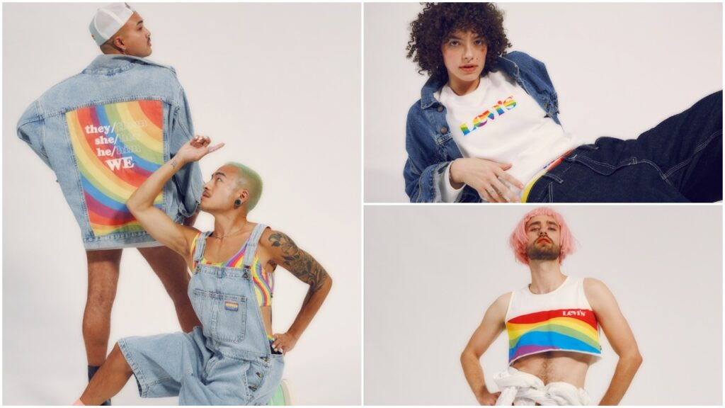"""Levi's Pride collection for 2021 is demanding """"respect for all pronouns"""". (Levi's)"""