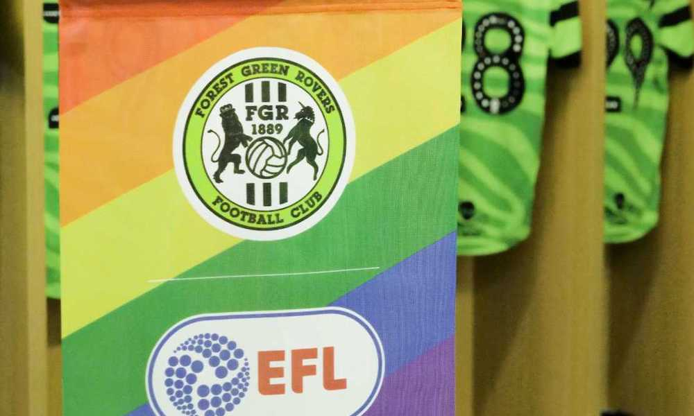 Forest Green Rovers rainbow flag