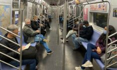 Commuters New York City Subway