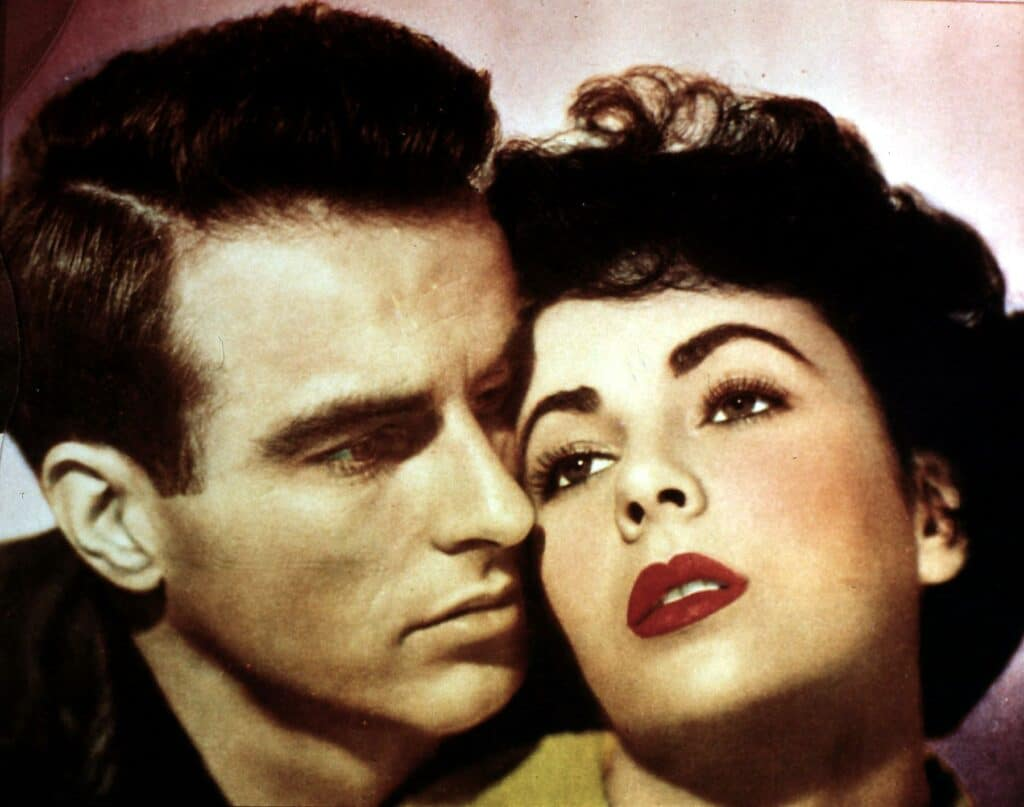 Elizabeth Taylor and Montgomery Clift
