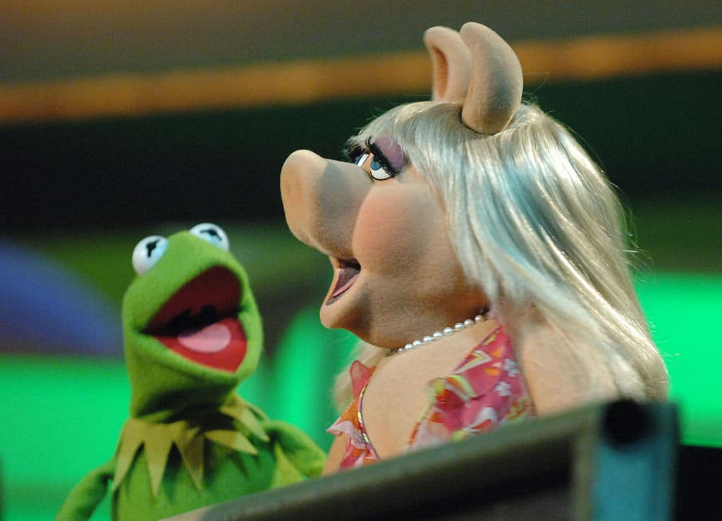Kermit the Frog and Miss Piggy from the Muppet Show