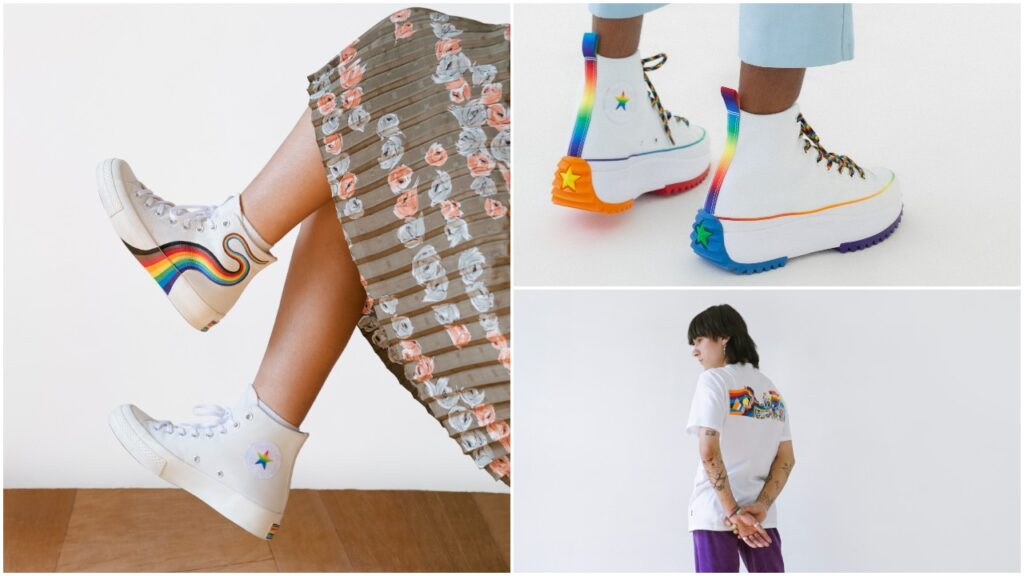 The Converse Pride collection for 2021 starts from £20/$20. (Converse)