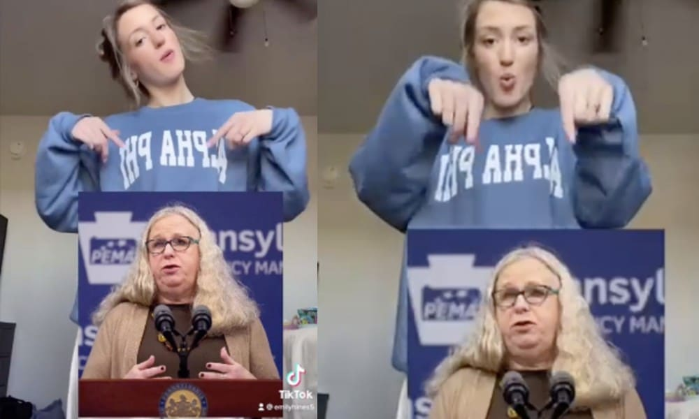 Student booted from sorority for TikTok mocking trans health secretary Dr Rachel Levine