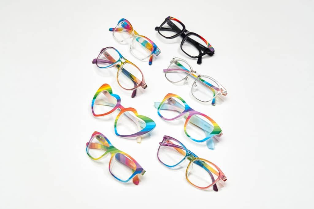 Zenni has released a collection of rainbow frames for Pride 2021. (Zenni)