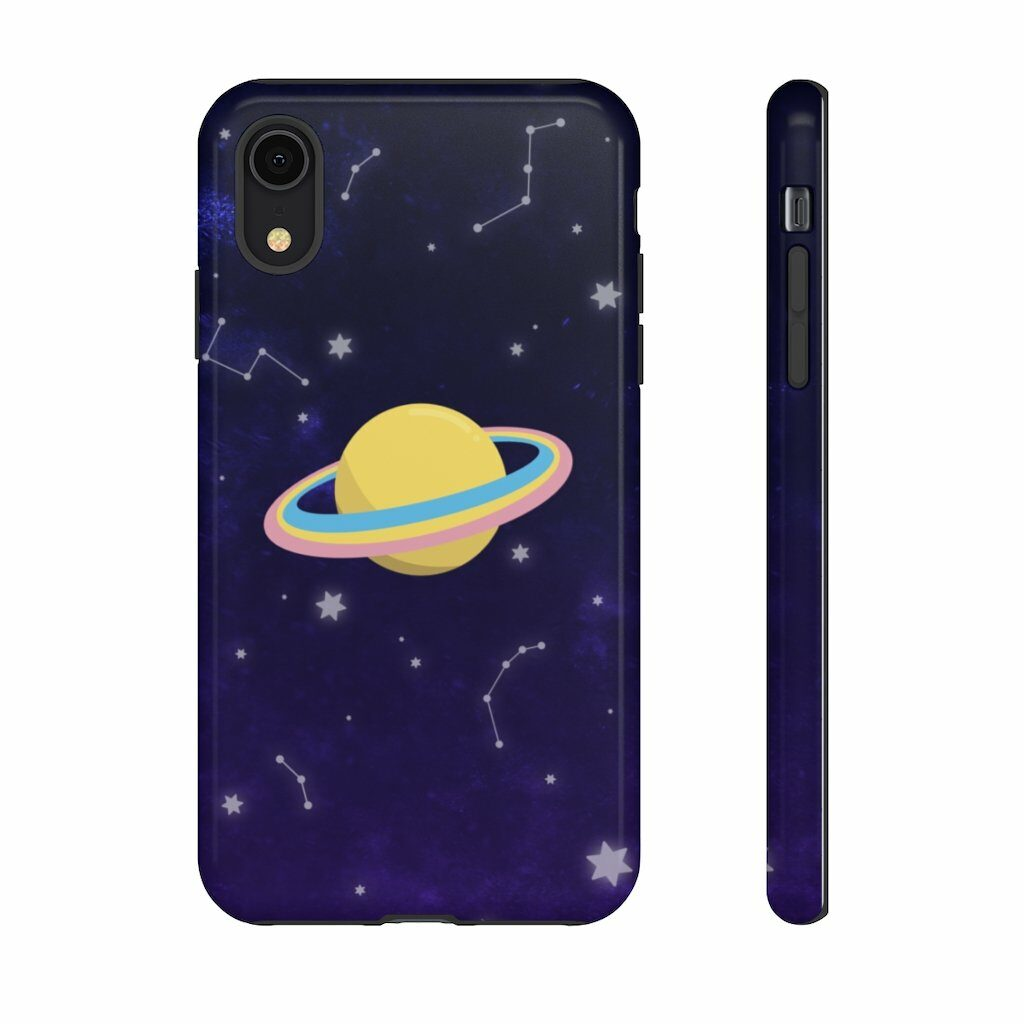 This spacey phone case features a pansexual planet. (PinkNews)