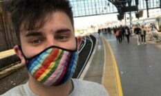 Laurence Coles, a non-binary train guard