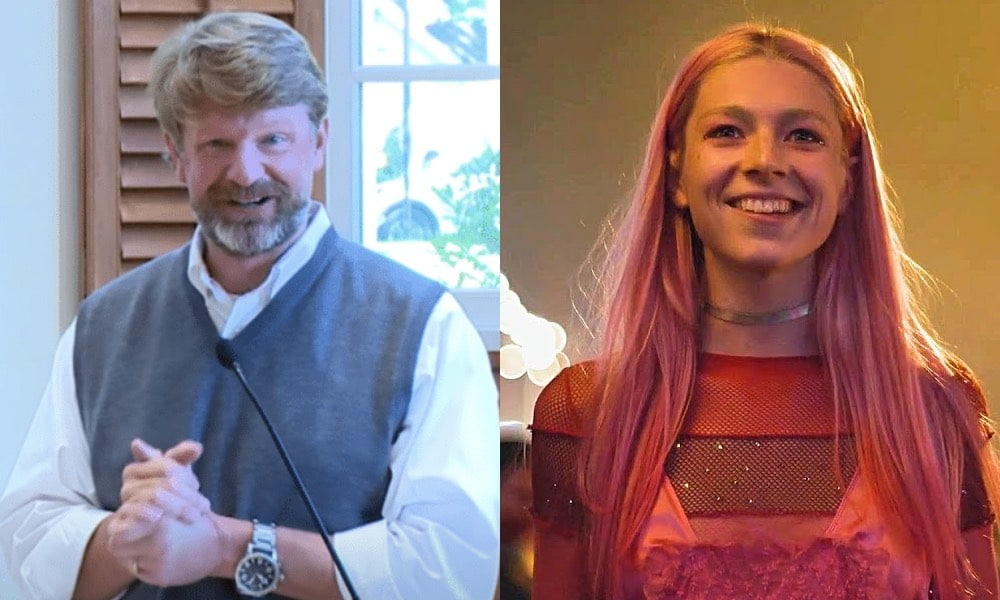 Hunter Schafer and her dad