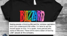 Blizzard pride shirt