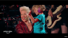Pink discusses balancing motherhood and touring the globe in All I Know So Far. (YouTube)